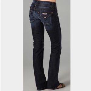 Hudson Colin flap dark wash jeans sandblasted 31